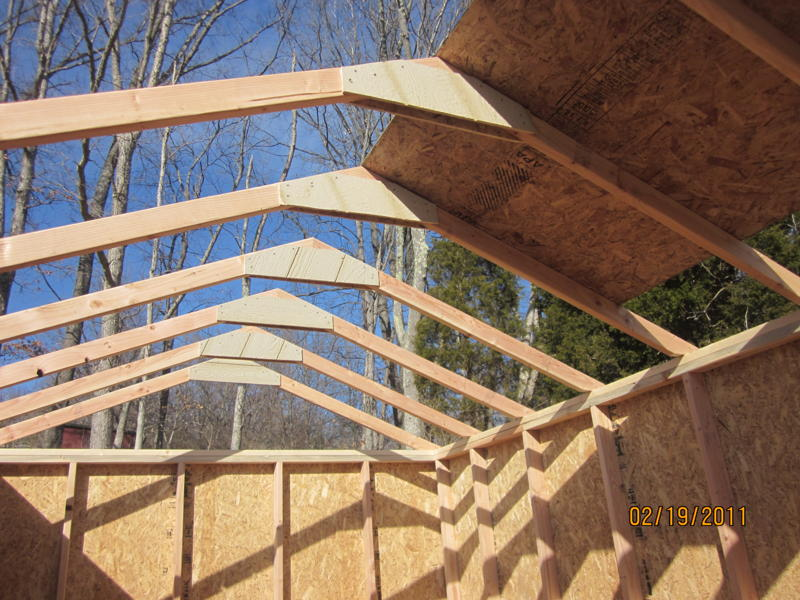how to build a 24 foot roof truss